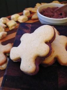 fudge filled gingerbread man