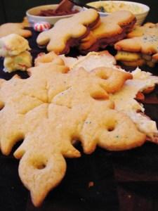snow flake sugar cookie