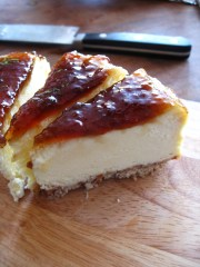 Beer Jelly Glazed Cheesecake