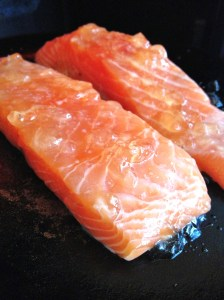 jelly on salmon