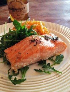 hefe glazed salmon