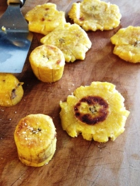 smashed plantains
