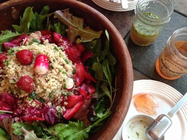 early season garden salad