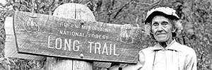 long trail hiker