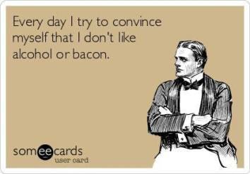alchohol bacon
